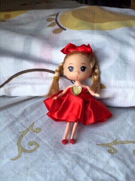 Used New red dress,doll,hair band & clips👧 in Dubai, UAE