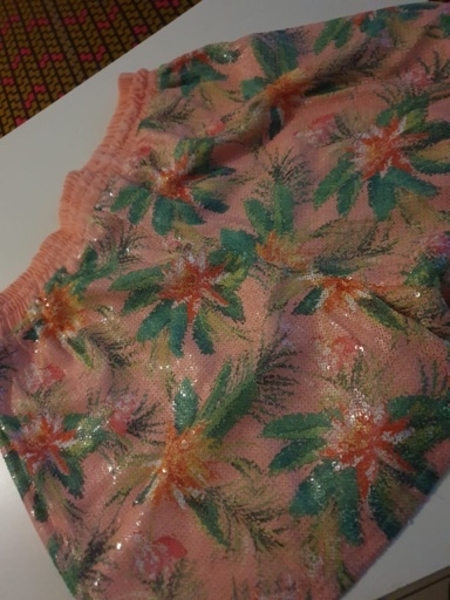 Used floral pink shorts in Dubai, UAE