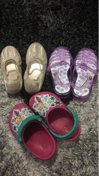 Used Shoes and slipper crocs frozen and jelly in Dubai, UAE