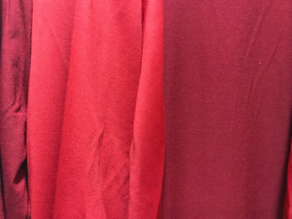 Used NEW Wine Red Dress Size M Length 100cm in Dubai, UAE