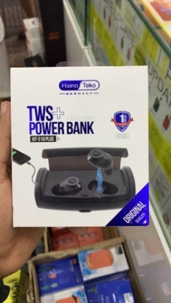 Used Hanio teko wireless earbuds with P.bank in Dubai, UAE