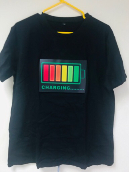 Used LED Lights Voice-activated T-shirt (New) in Dubai, UAE