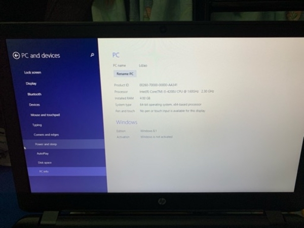 Used Hp i5 4th generation in good condition in Dubai, UAE