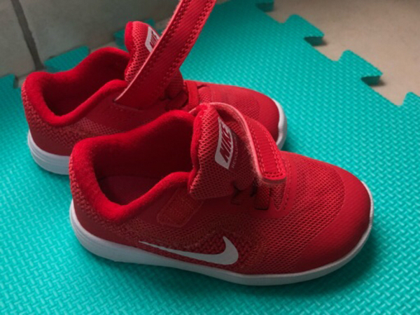 Used NEW! Nike red shoes TODDLER in Dubai, UAE