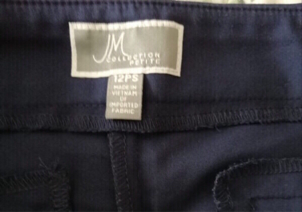Used Classic navy blue trouser size 12 in Dubai, UAE