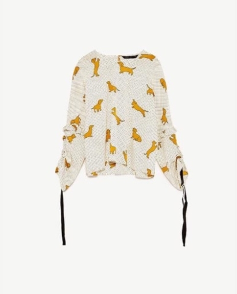 Used Zara dogs blouse in Dubai, UAE