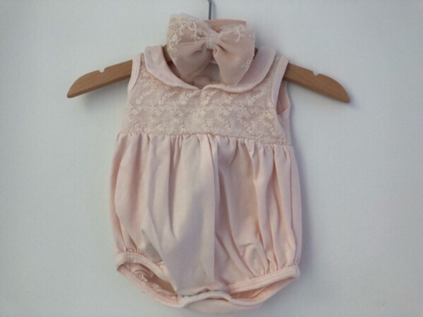 Used Pure cotton bubble outfit with head bow in Dubai, UAE
