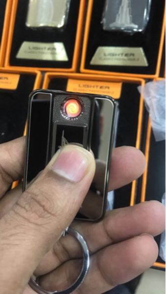Used Key chain with Usb chargable Lighter in Dubai, UAE