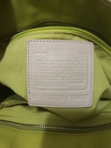 Used AUTHENTIC COACH REAL LEATHER TOTE BAG.. in Dubai, UAE