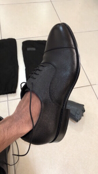 Used Original Hugo Boss leather shoes in Dubai, UAE