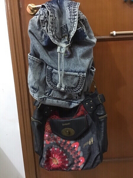Used Desigual bag and Claire's backpack in Dubai, UAE
