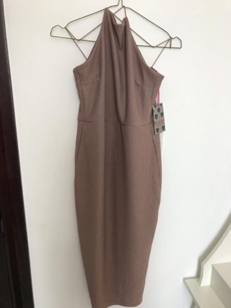 Used Brand New Boohoo dress (S-M) Nude in Dubai, UAE
