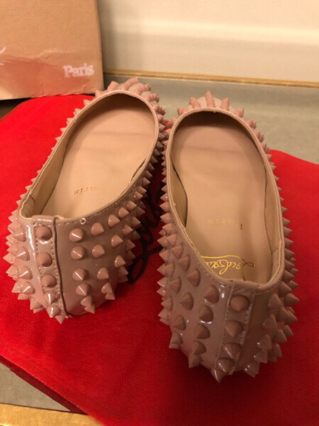 Used Christian Louboutin spike flats in Dubai, UAE