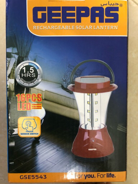Used GEEPAS solar rechargeable lantern in Dubai, UAE