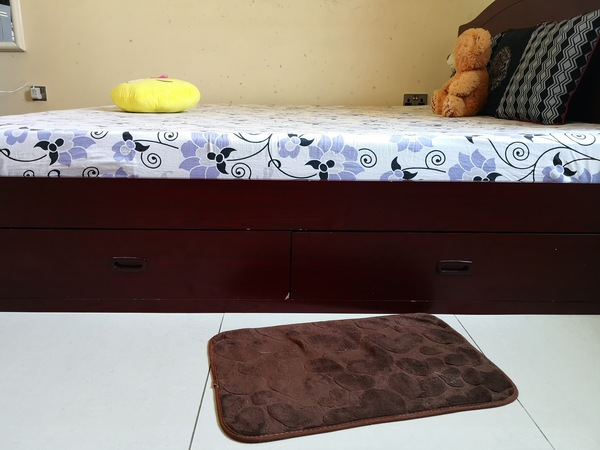 Used Customized bed with 2 drawers and storag in Dubai, UAE
