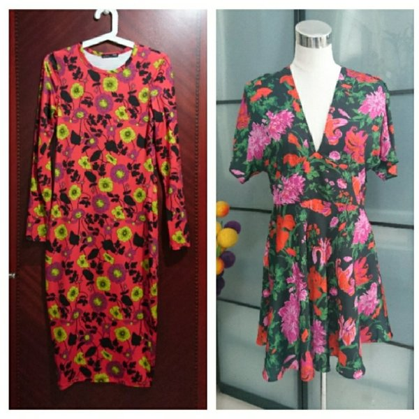 Used 2 Brand New ZARA Floral Dresses in Dubai, UAE