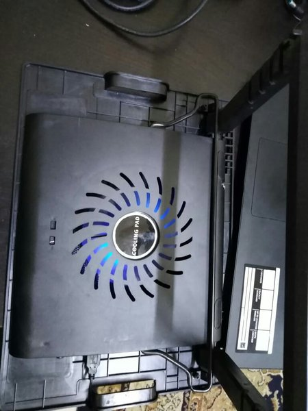 Used Laptop height adjustable stand with fan in Dubai, UAE