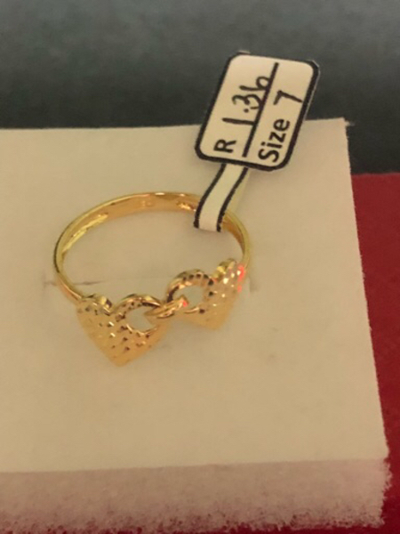 Used Ring size 7 US Twin heart in Dubai, UAE