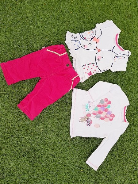 Babygirl clothes bundle 3 to 6 months