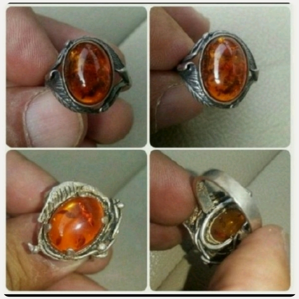 Used Old silver Ring with kahraman stone in Dubai, UAE