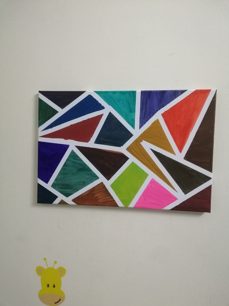 Used Canvas painting, modern art in Dubai, UAE