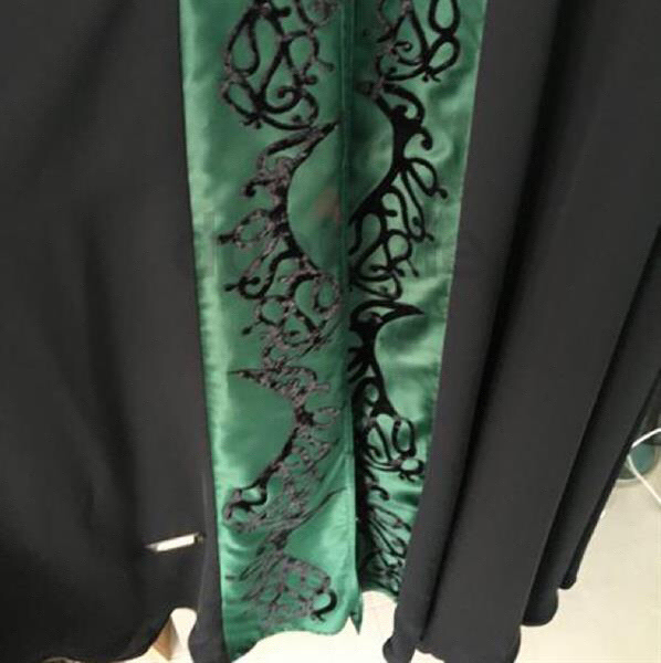 Used Silk Emerald Abaya Geelato brand  in Dubai, UAE