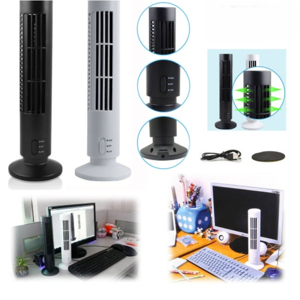 Used New Usb tower fan black color in Dubai, UAE