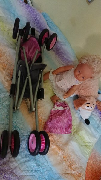 Used Baby toy with stroller in Dubai, UAE