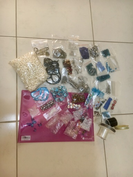 Used Jewelry making materials: beads, rings.. in Dubai, UAE