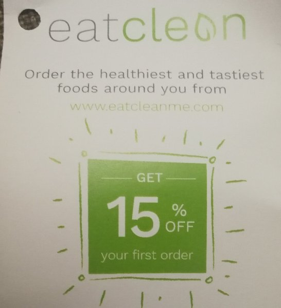 Used Eat clean voucher 15%off on first order in Dubai, UAE