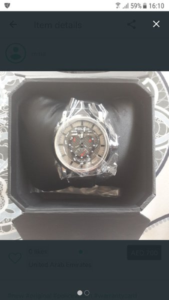 Used police watch never used with warranty in Dubai, UAE