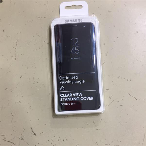 Used S8 Plus Original Clear View Cover - Black in Dubai, UAE