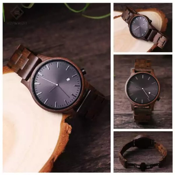 Used Sopewod wooden minimalist luxury watch in Dubai, UAE