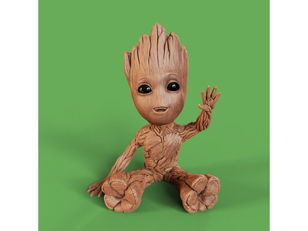 Used 3D Printed Waving Groot in Dubai, UAE