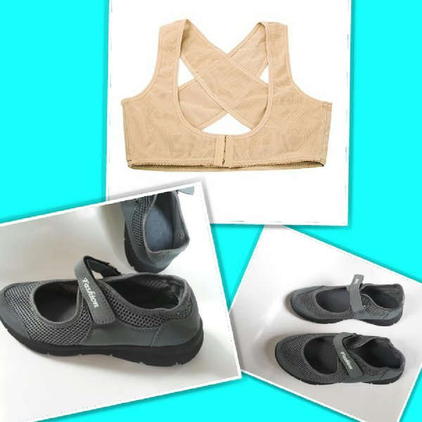 Used Grey loafers + shoulder support in Dubai, UAE