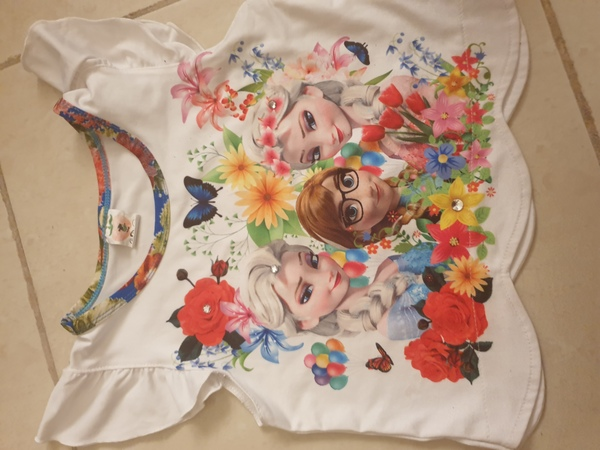 Used Frozen baby dress and embroidered dress in Dubai, UAE
