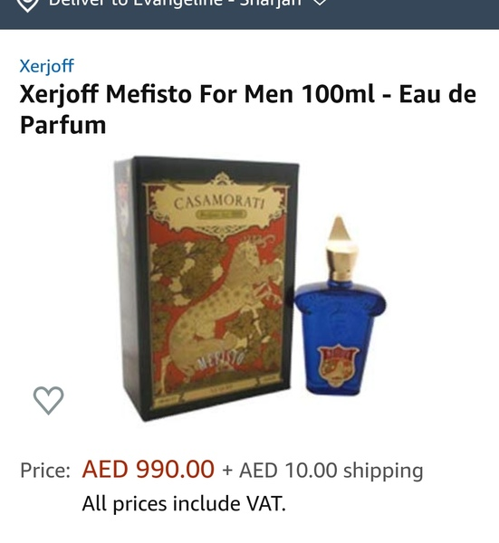 Used Xerjoff casamorati mefisto men perfume in Dubai, UAE