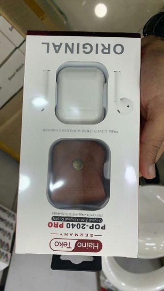 Used Pop 2040 pro wireless airpods with case in Dubai, UAE