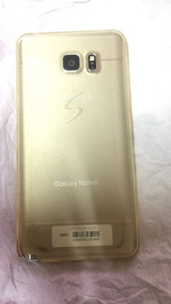 Used Note 5 golod color original uae model in Dubai, UAE