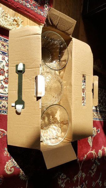 Used 6 pcs glass bowls. spoon and fork in Dubai, UAE