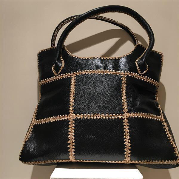 Used New genuine black Leather Tote Bag in Dubai, UAE