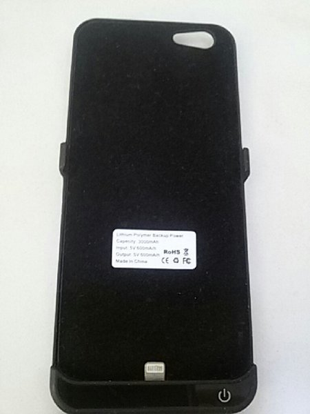Used i-phone6 power bank(cover type) black in Dubai, UAE
