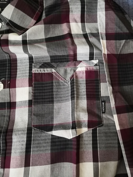 Used Red and Grey checkered Polo M in Dubai, UAE