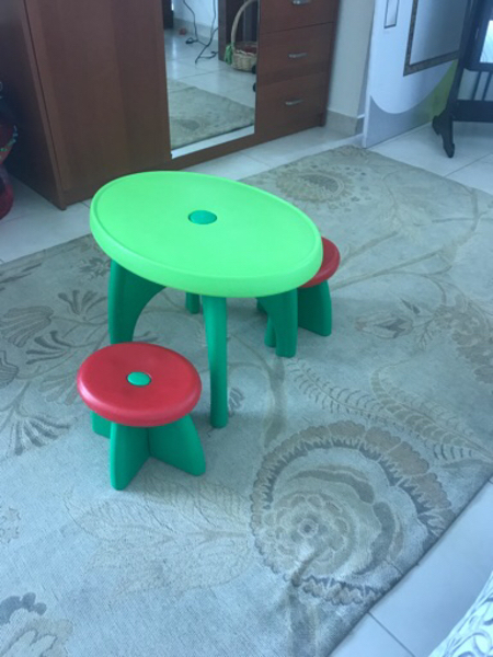 Used Children's table and chairs in Dubai, UAE