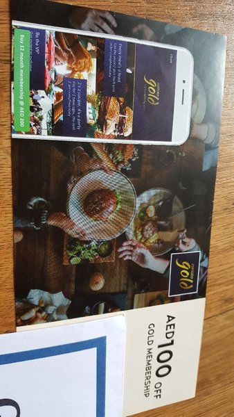 Used Zomato gold membership 100 dhs in Dubai, UAE