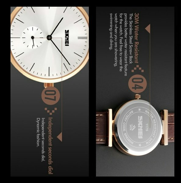 Used SKMEI Dress Leather Watch[BothDial Work] in Dubai, UAE