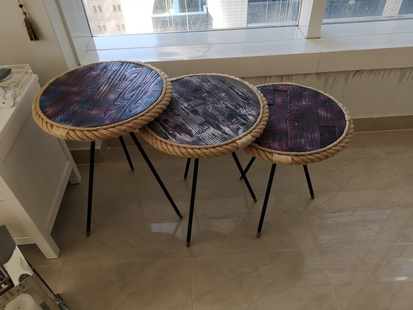Used Accent wooden tables in Dubai, UAE