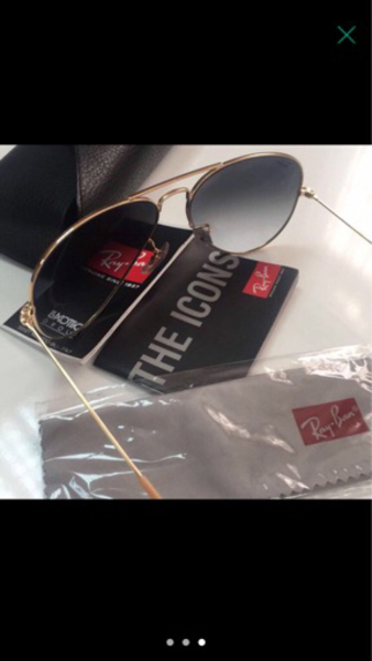 Used Rayban Large Metal Avaitor Light Blue  in Dubai, UAE