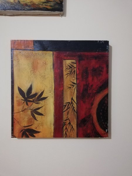 Used Red and orange wall art x2 in Dubai, UAE