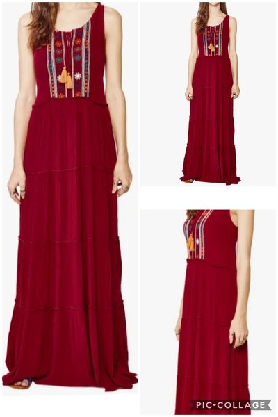 Used Maroon women dress - ladies in Dubai, UAE
